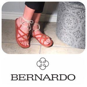 Bernardo Shoes - 🔥SALE 🦋 Bernardo Ankle Wrap Leather Sandals