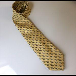 🚫SOLD🚫 Yellow & Blue Sailboat Silk Tie