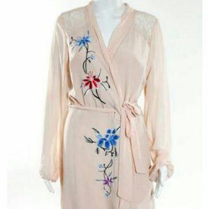 Rodarte Dresses & Skirts - Rare Rodarte Peach Blush Pink Wrap Dress Juniors 7