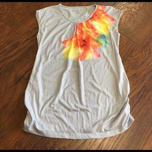 Liz Lange for Target Tops - Liz Lange Maternity Grey Floral Shirt Size M