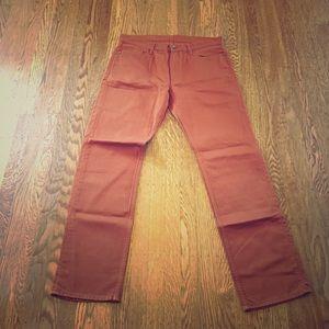 Uniqlo Other - Men's brown/orange jeans size 35x32