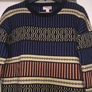 EUC | Oversized Geo Print Sweater