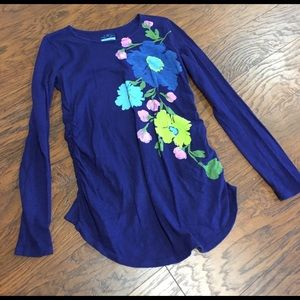 Old Navy Tops - Old Navy Maternity size M purple Floral Top