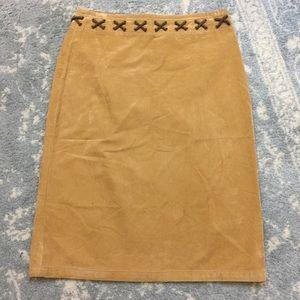 Anthropologie Dresses & Skirts - Sleeping on Snow Anthro Tan Midi Skirt
