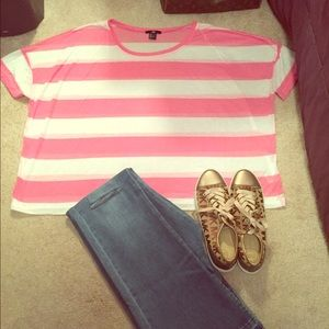 H&M Striped Cropped Tee