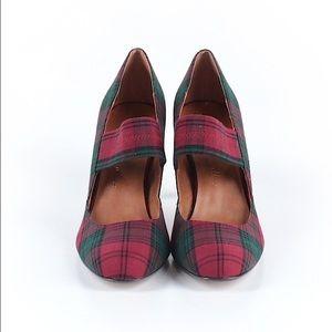 Ann Marino Shoes - Ann Marino heels red plaid 7.5