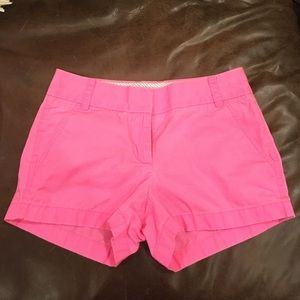 J.Crew hot pink broken-in chino shorts