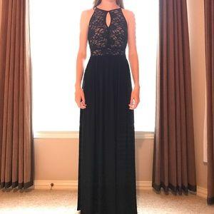 Nightway Dresses & Skirts - Black lace prom dress