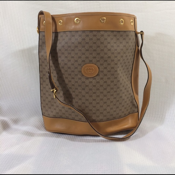 38ad9a17bb52 Gucci Bags | Vintage Drawstring Bucket Bag | Poshmark