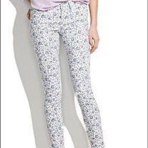 Madewell Denim - Madewell Floral Mid Rise Skinny Ankle Jeans