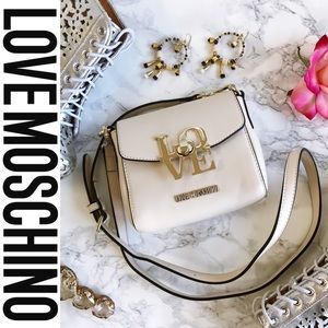 Love Moschino Handbags - ⚡️FLASH SALE⚡️HP Moschino LoveLock Ivory Crossbody