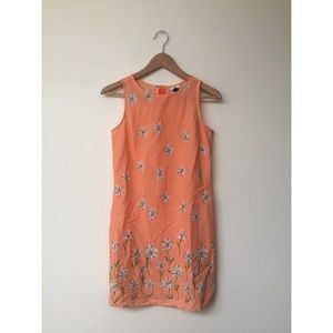 Vintage daisy print summer dress
