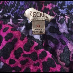 Decree Shorts - ⭐️pink & purple decree shorts size XL