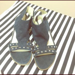 Geox Shoes - Geox navy suede sandals