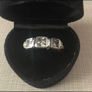 Jewelry - Judith Ripka 925 sterling silver 925 Cz ring 10