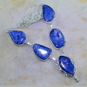 Jewelry - Drusy Agate Silver Necklace