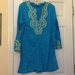 Other - Turquoise Swim suit cover up tunic