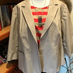 Sejour Jackets & Blazers - NORDSTROM SEJOUR Cotton Blend Jacket
