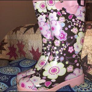 Rain boots ☔️ in retro floral design
