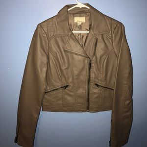 Jackets & Blazers - Light brown leather jacket