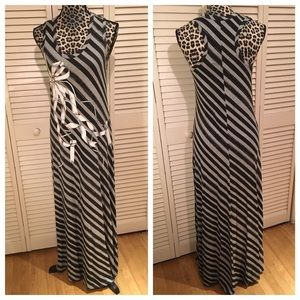 TED BAKER Striped Maxi Dress