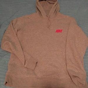 Nike Other - Nike grey graphic hooded sweatshirt L