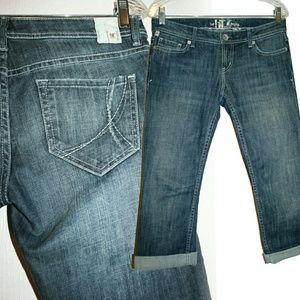 !It Los Angeles Denim - Mid Wash Rolled Cropped / Capri Jeans