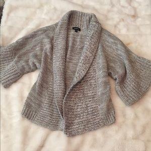 Bebe metallic kimono style sweater