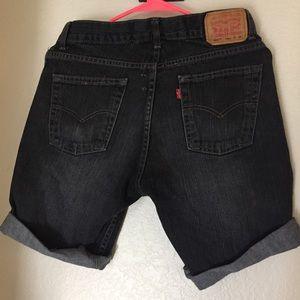 Levi's Pants - Women's dark denim Levi's Straight shorts