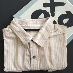 Sean John Other - Sean John Button Front Striped Shirt Size XXL