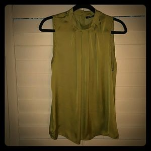 Elements by Nina Tops - Silk Green Top with Rhinestone Back Buttons