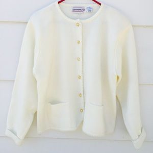 Pendleton Sweaters - Westbound Women's Cardigan Sweater Ivory Large