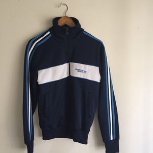 Adidas Other - Vintage Adidas Navy Blue Zip-Up Jacket