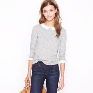 J. Crew Factory Sweaters - J. Crew Factory Peter Pan collar sweatshirt