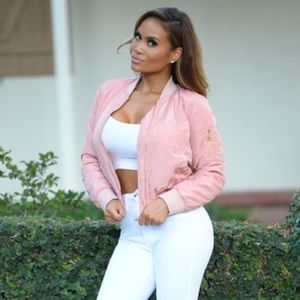 Sexy pink bomber jacket