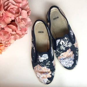 Floral Slip On Sneakers from ASOS