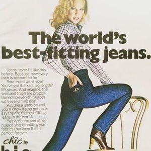 Retro Chic Denim - Chic vtg 80s high waisted tapered jean