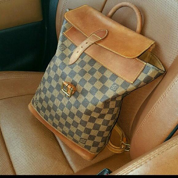7d7ce8b5fa76 Louis Vuitton Handbags - LV Checkered Damier Ebene Soho Centenaire Backpack