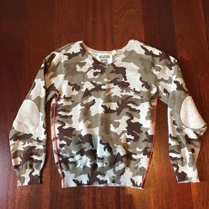 Ruum Other - Super cool boys camo elbow patch sweater 5/6
