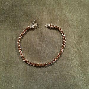 Jewelry - NWOT  - Citrine bracelet - 14k WGP
