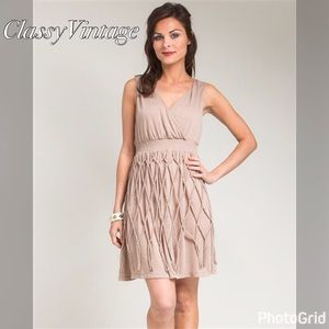 boutique Dresses & Skirts - Unique light brown tank top style dress.
