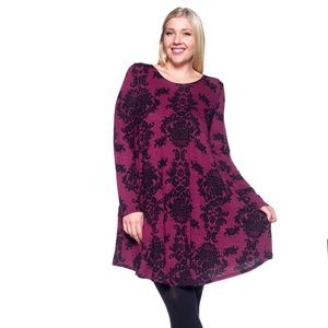 Tops - Pink and Black Paisley Tunic