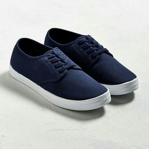 Urban Outfitters Other - UO Navy Blue plimsoll sneakers
