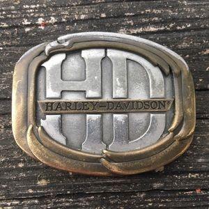 Harley-Davidson Other - Harley Davidson Brass Overlay Buckle