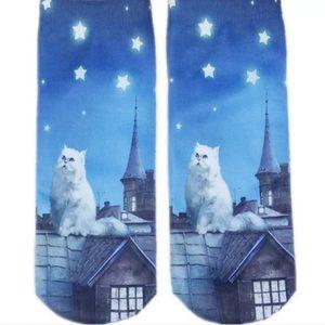 ❤BOGO Midnight kitty socks