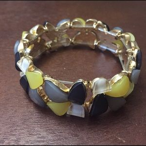 Charming Charlie Jewelry - Gold, Gray, Yellow & White Bracelet