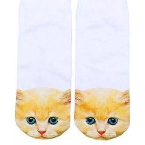 ❤BOGO Kitty face white socks