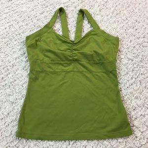 Prana Tops - Prana yoga built in bra tank green L