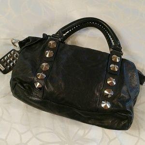 Be & D Handbags - Luxury.  Soft black leather satchel   Be&D