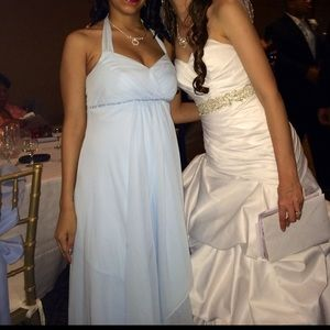 David's Bridal Dresses & Skirts - Baby blue David's bridal dress